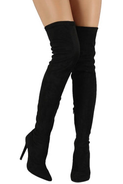 Black Over The Knee Stiletto Boots