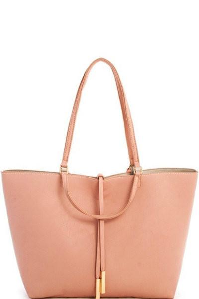 Blush Hobo Reversible Shoulder Bag
