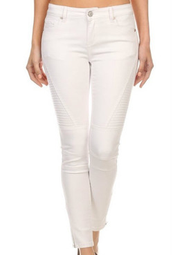 Stitched Slim Fit Cropped Jeans