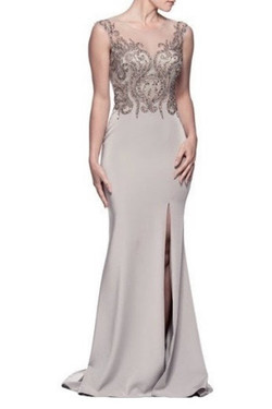 Shimmering Silver Evening Dress
