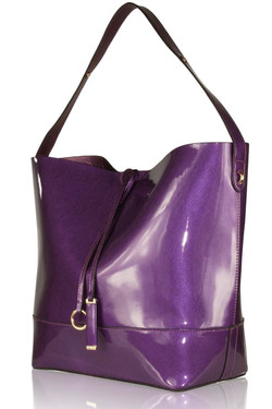 Purple Glossy Shoulder Bag