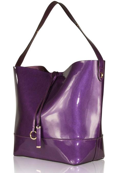 Purple Glossy Shoulder Bag