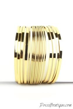 Gold Stranded Bracelet