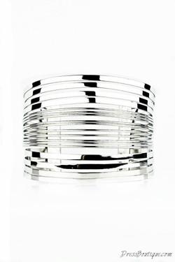 Silver Stranded Bracelet