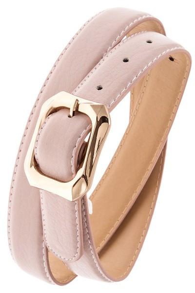 Powder Pink Textured Belt