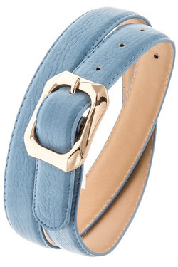 Light Blue Textured Belt