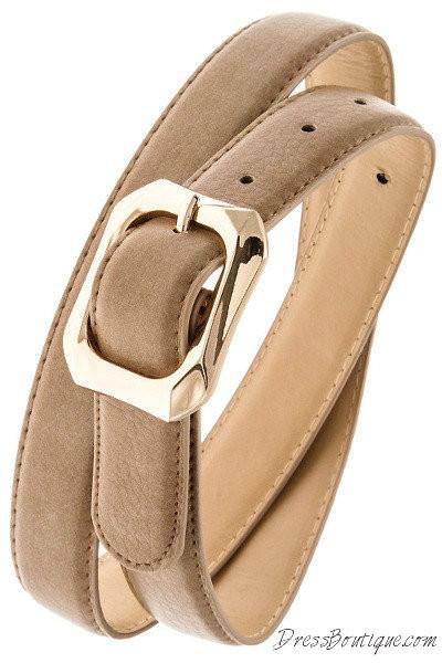 Tan Textured Belt