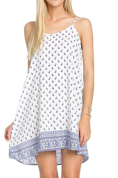 Blue Summer Slip Dress