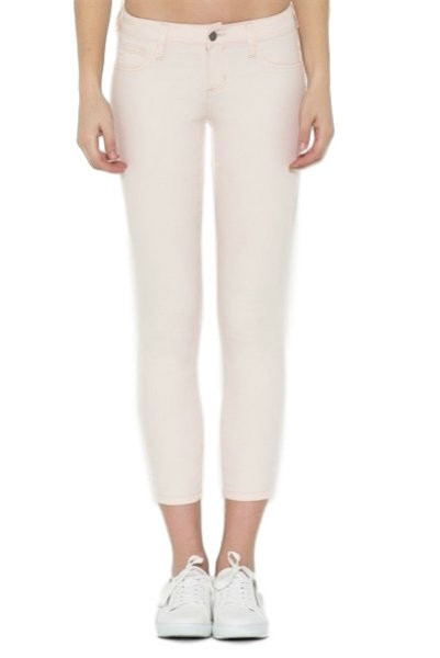 Cropped Slim Fit Blush Jeans