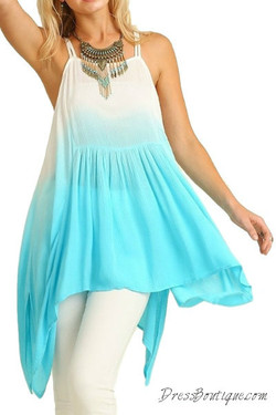 Blue Ombre Tunic