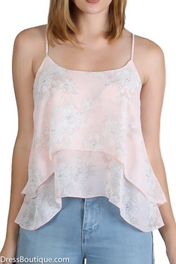 Pink Floral Camisole