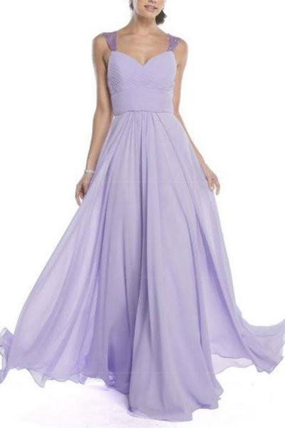 Elegant Lilac Evening Dress