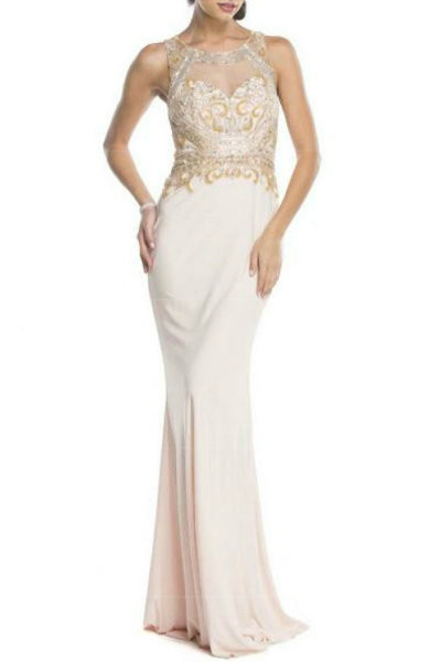 Chic Ivory Evening Gown