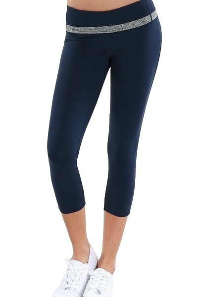 Navy Capri Yoga Pants