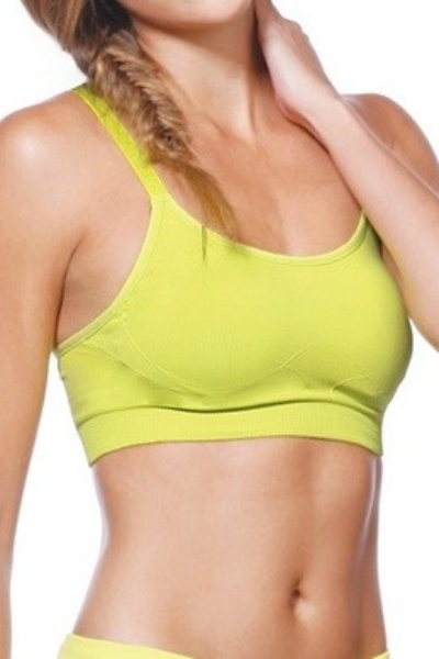 Yellow Adjustable Racerback Top