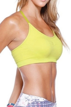 Cross Back Yellow Sports Top