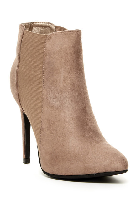 Beige Suede Ankle Boot