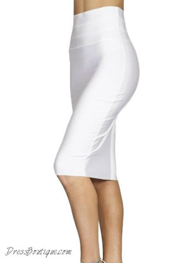 White Bodycon Pencil Skirt