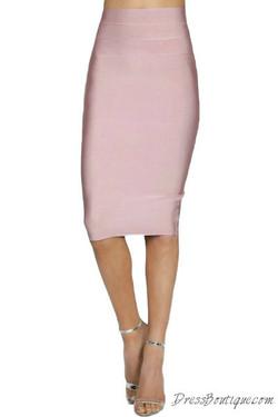 Blush Bodycon Pencil Skirt