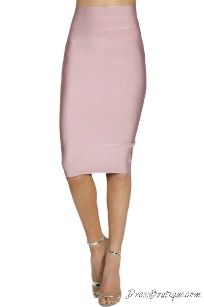 Blush Bodycon Pencil Skirt