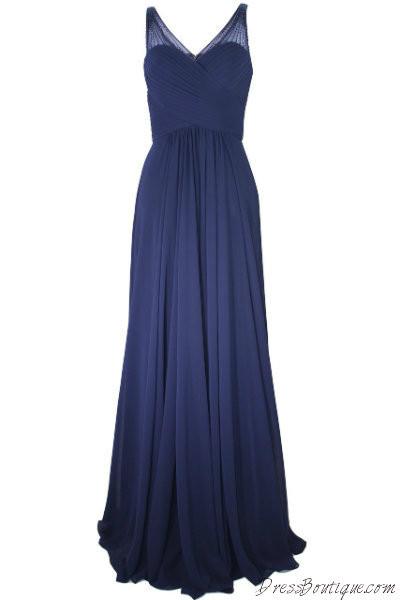 Elegant Navy Evening Dress