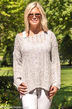 Grey Loose Knit Sweater