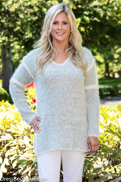 Grey Boyfriend Sweater