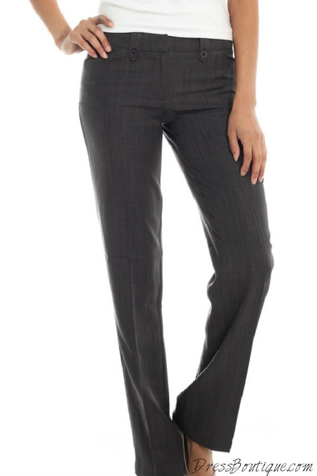 Women's Dark Grey Slacks