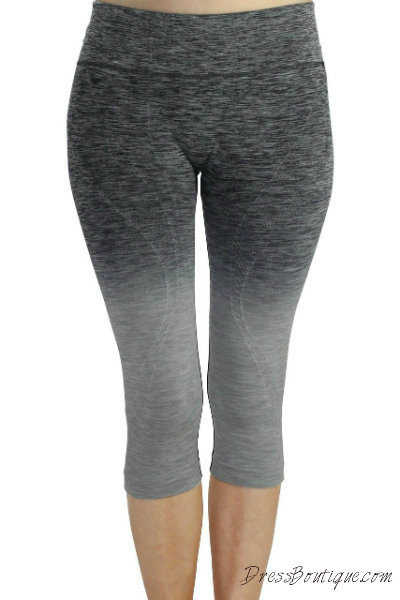 Grey Ombre Capri Workout Pants | Shop Women's Activewear