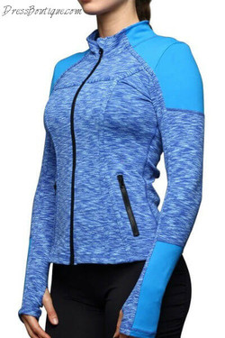 Fitted Blue Ombre Workout Jacket