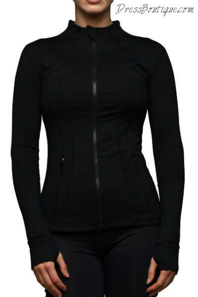 Fitted Black Workout Jacket