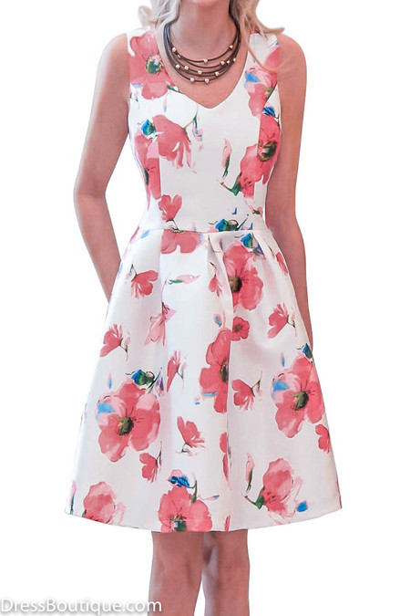 Rose Floral Fitted Dress