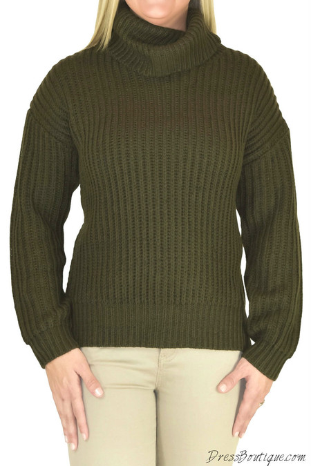 Olive Cowl Neck Sweater
