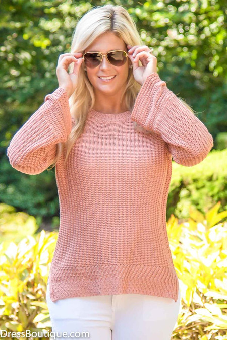 Blush Knit Sweater