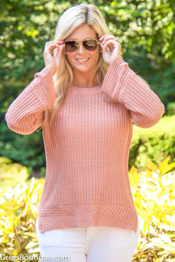 Blush Knit Sweater