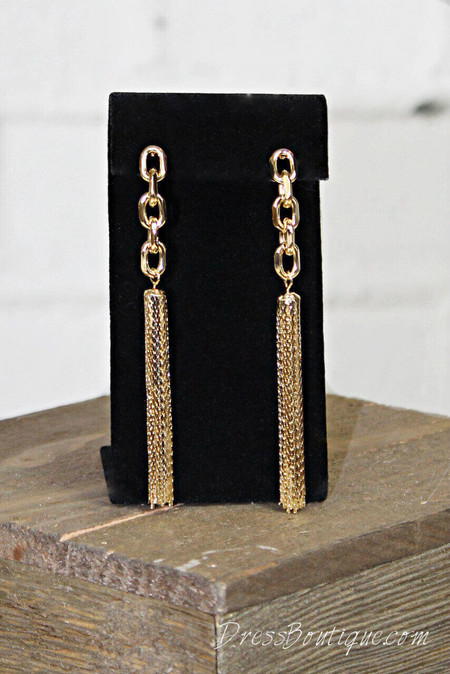 Gold Waterfall Earrings