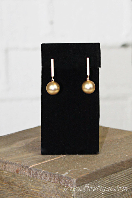 Gold Satin Drop Earrings