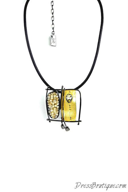 Handmade Artsy Leather Necklace