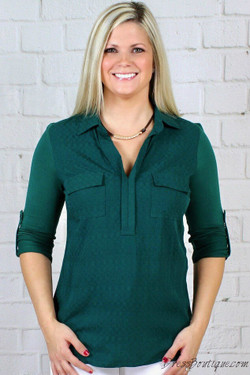 Emerald Green Fitted Shirt