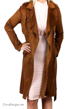 Camel Suede Coat