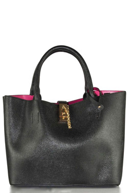 Women's Chic Black Satchel