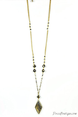 Gold Labradorite Pendant