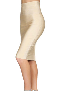 Beige Bodycon Skirt