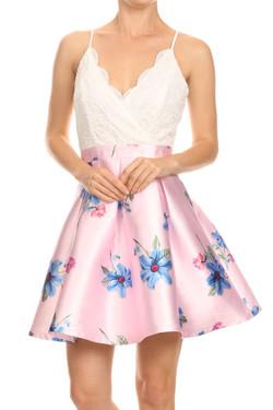 Pink Lace Summer Dress