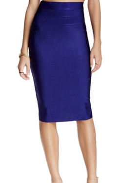 Navy Bodycon Pencil Skirt