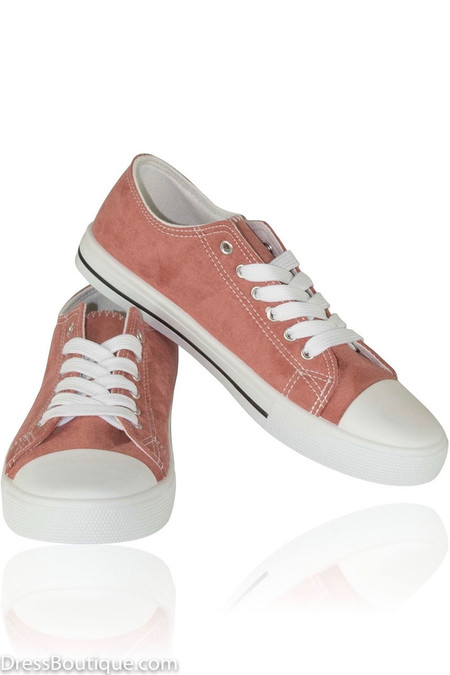 Blush Suede Sneakers