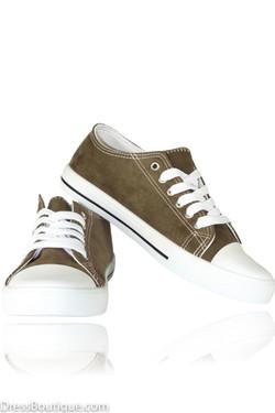 Khaki Suede Sneakers