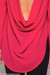 Pink Cherry Cowl Blouse