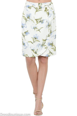 Ivory Floral Wrap Skirt