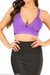 Lux Purple Bandage Crop Top